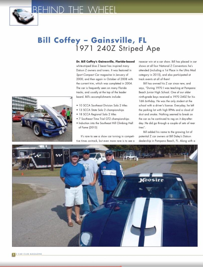 Bill Coffey 280YZ Racer magazine article 1