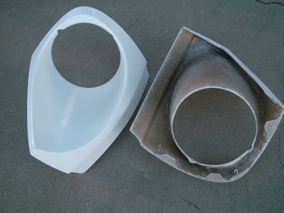 replacement fiberglass headlight buckets